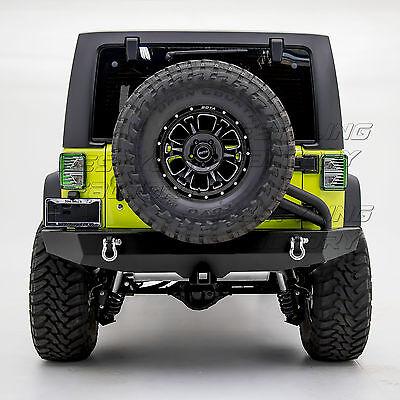 07-17 JK Wrangler Full Width Rear Bumper+Tire Carrier Linkage+Brake Light Mount