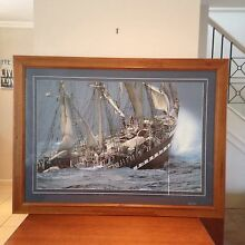 Large Ship Print with Glass front. Caringbah Sutherland Area Preview