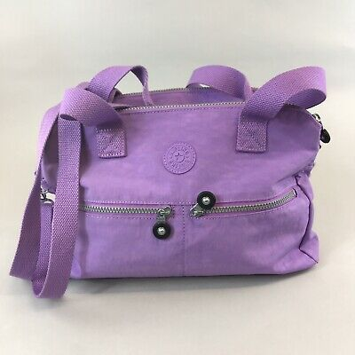 Stunning Kipling Ladies Lilac Shoulder Cross Body Handbag Size Meduim