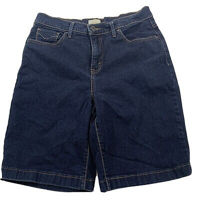 levi's 512 women's perfectly slimming blue denim shorts size 12