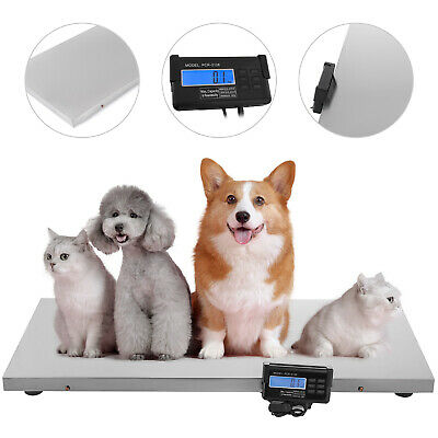 440lb Digital Stainless Livestock Vet Platform Scale Hog Dog Pig Sheep Pet Scale