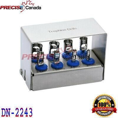 8 Pcs Dental Trephine Drills Kit For Implant Surgical Surgery Polish Holder