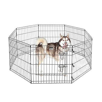 Pet Trex 24 Exercise Playpen For Dogs Eight 24 X 24 High Panels w/Gate NEW