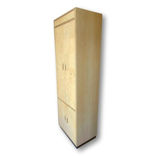 Henredon Scene 2 Olive Burl Wood Tall Cabinet Armoire Baughman Style Mid Century