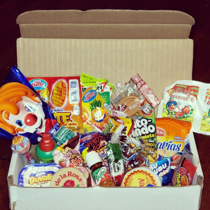 Mexican Candy variety box 50 pc! gift Package! unique candy de Mexico!