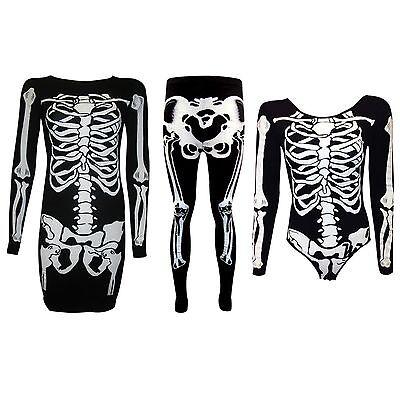 New Halloween Plus Size Leggings Bodysuit Skeleton Dress Costume women's 8-26 - Plus Size Womens Skeleton Costume