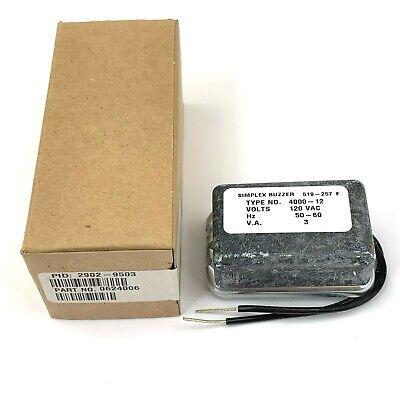 Simplex Small Buzzer 4000-12 120 Vac 50-60 Hz Pn 0624006