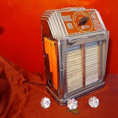 Unique Buckley Jukebox Wallbox Red Ribbons orange sides Wurlitzer Mills seeburg