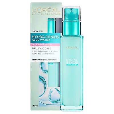 L'Oreal Paris Hydra Genius Liquid Moisturiser Dry & Sensitive Skin 70ml
