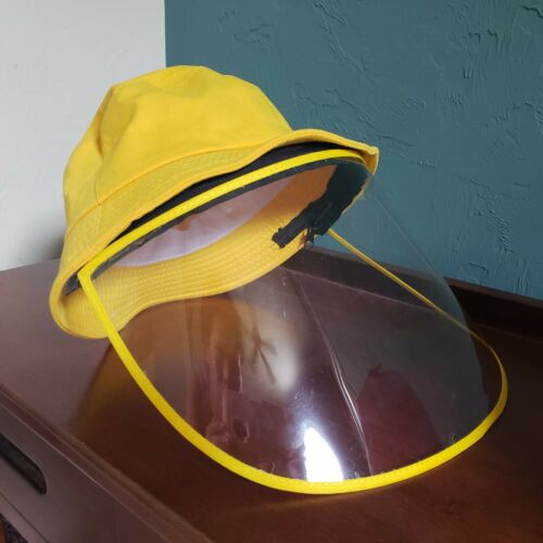 Adult Bucket Summer Hats with Clear Protective Removable Face Shield