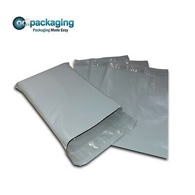 100 Grey Plastic Mailing/Mail/Postal/Post Bags 14 x 20