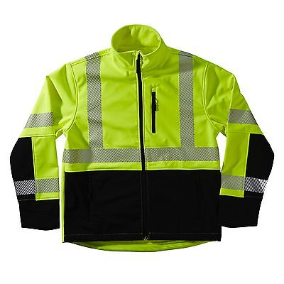 NEW XTREME VISIBILITY SJ25345B L SOFT SHELL CLASS 3 JACKET LARGE