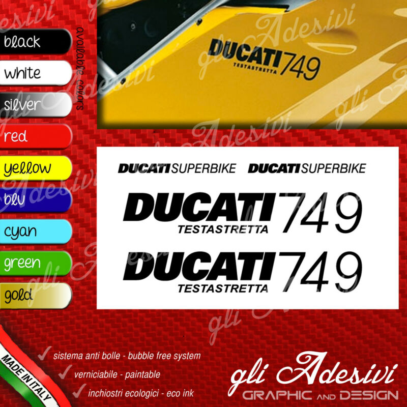 Series Adhesives Stickers Compatible DUCATI 749 Superbike