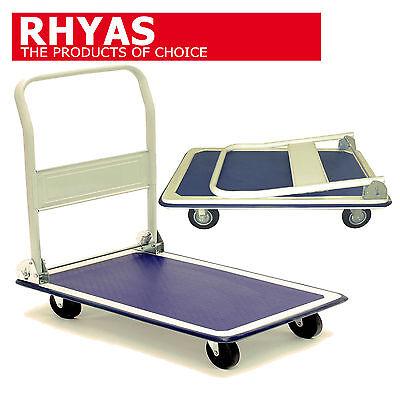 Rhyas Platform Trolley Cart Barrow Sack Truck 300kg Folding Handle