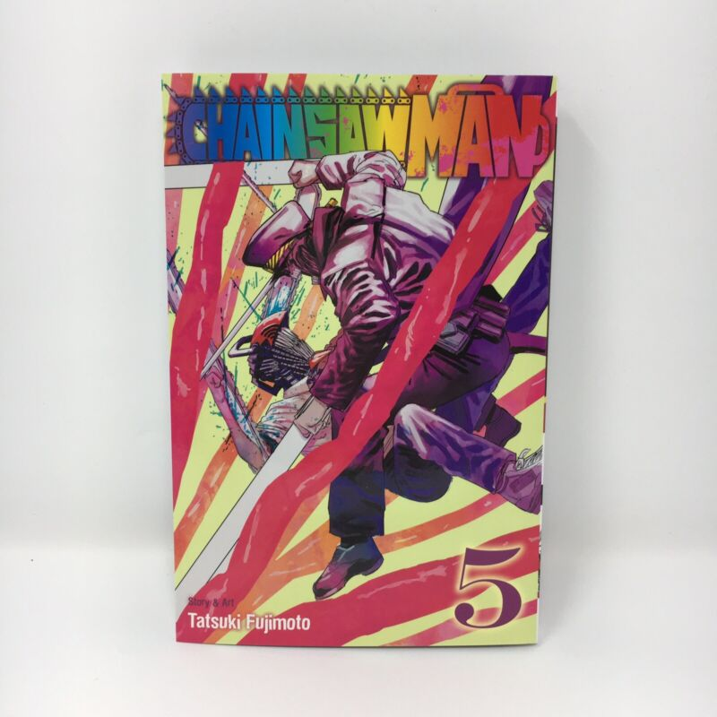 Chainsaw Man Vol. 5 English Manga By Tatsuki Fujimoto Brand New