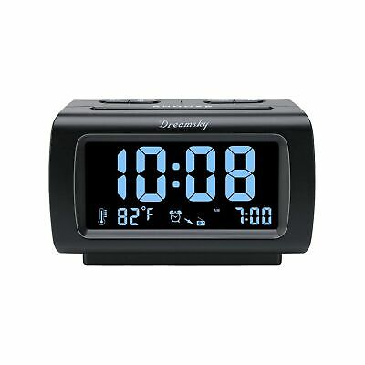 DreamSky Decent Alarm Clock Radio with FM Radio, USB Port fo