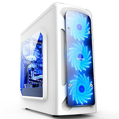 Tower Gaming Pc Gehäuse USB 3.0 ATX ,M-ATX,Mini-ITX  Midi-Tower xajh--004 weiss