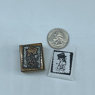 Vintage Kenco Security Advertising Letterpress Wood Block Print Stamp 1 X 78