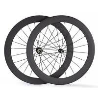 60mm Carbon Ruote Tubolare Bici Da Strada Set Ruote For 700c Bicicletta -  - ebay.it