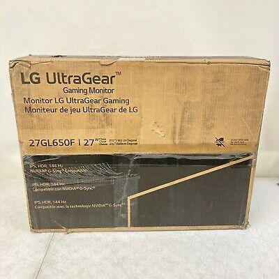 LG 27GL650F-B 27 Inch Full HD Ultragear G-Sync Compatible Gaming Monitor Openbox