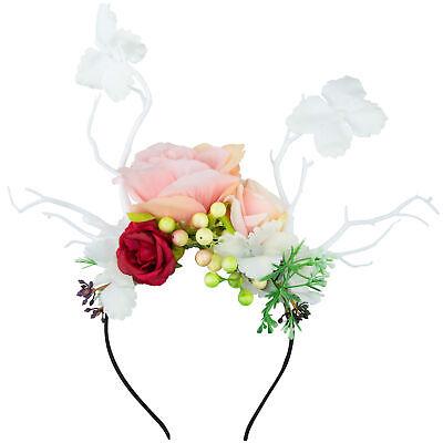 Corona de Flores Accesorio Mujer Novia Casamiento Tocado Diadema Celebración