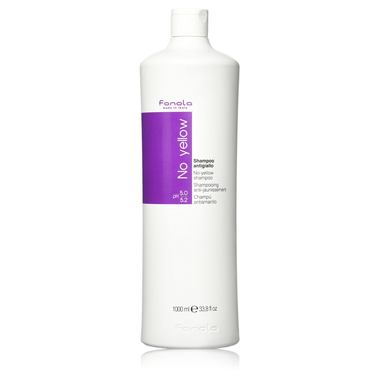 Fanola No Yellow Shampoo ideal für blondes & graues Haar Anti-Gelbstich 1000 ml