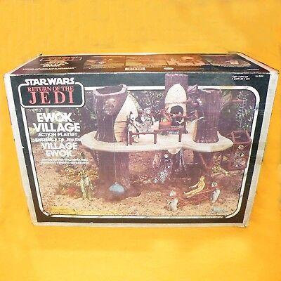VINTAGE 1983 KENNER STAR WARS RETURN OF THE JEDI EWOK VILLAGE PLAYSET BOXED RARE