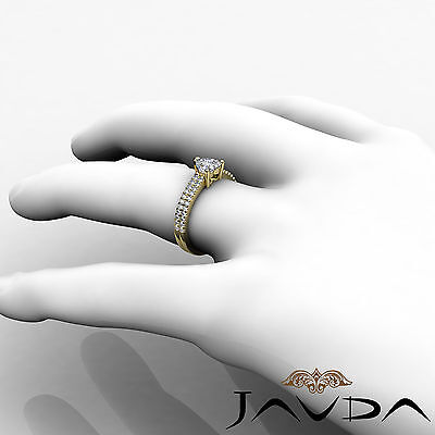Women's Heart Diamond Engagement Prong Set Yellow Gold Ring GIA H Color VVS2 1Ct 5