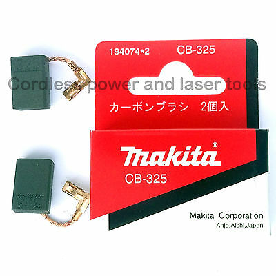 Makita 9557NB Angle Grinder CB325 Carbon Brushes Genuine Original Part 194074-2