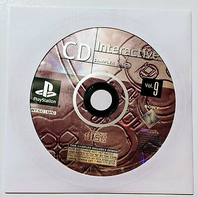 CD Interactive Sampler Disc Vol. 9 Playstation demo disc only - Tested PS1