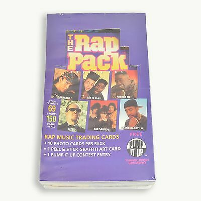 1991 The Rap Pack Rad Music Series 1 Trading Card Box