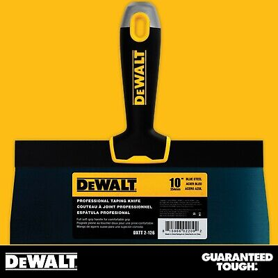Dewalt Taping Knife 10 Premium Blue Steel Drywall Finishing Tool Soft-grip
