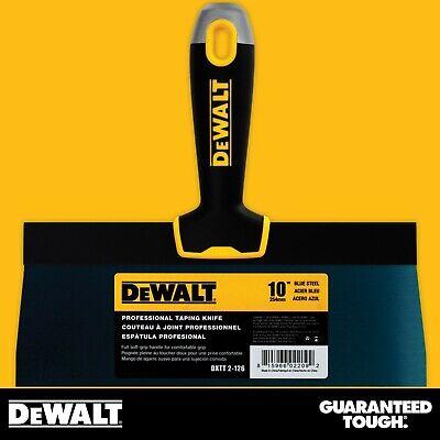 Dewalt Taping Knife 10 Premium Blue Steel Drywall Finishing Tool Soft-grip