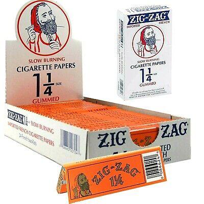 Zig Zag Orange 1 1/4 Rolling Papers 24 Pks Genuine! *New Sealed Box* USA Shipped