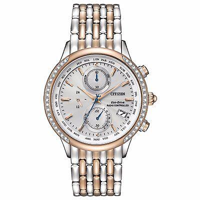 Citizen Eco-Drive Women's FC5006-55A World Chronograph A-T Diamond Accents Watch