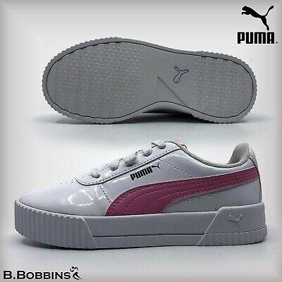 👟 PUMA® Carina Patent PS SOFTFOAM+ Trainers Size UK 10 11 12 13 1 1.5 2.5 Girls