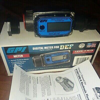 Gpi Digital Meter 1 Inlet-outlet Use For Water Or Def - Similar 113255-24 New