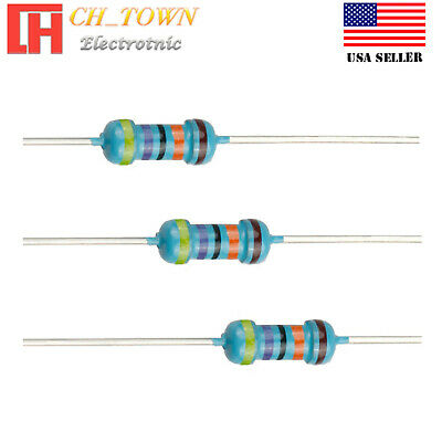 100pcs 470k Ohm Resistor Metal Film Resistors 1 Tolerance