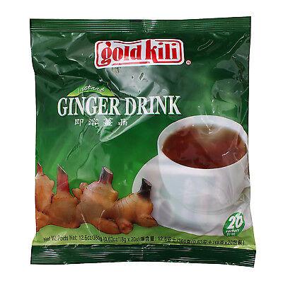 Natural Instant Ginger Tea Drink by Gold Kili, 20 Sachets - Fast Shipping - Instant Ginger Drink