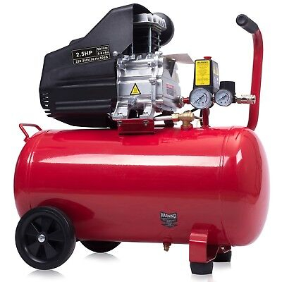 Air Compressor 50L Litre  2.5HP 8 BAR 230V 9.6CFM + Wheel