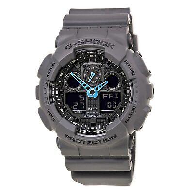 Casio Men's Watch G-Shock Grey & Black Ana-Digi Dial Black Strap GA100C-8A