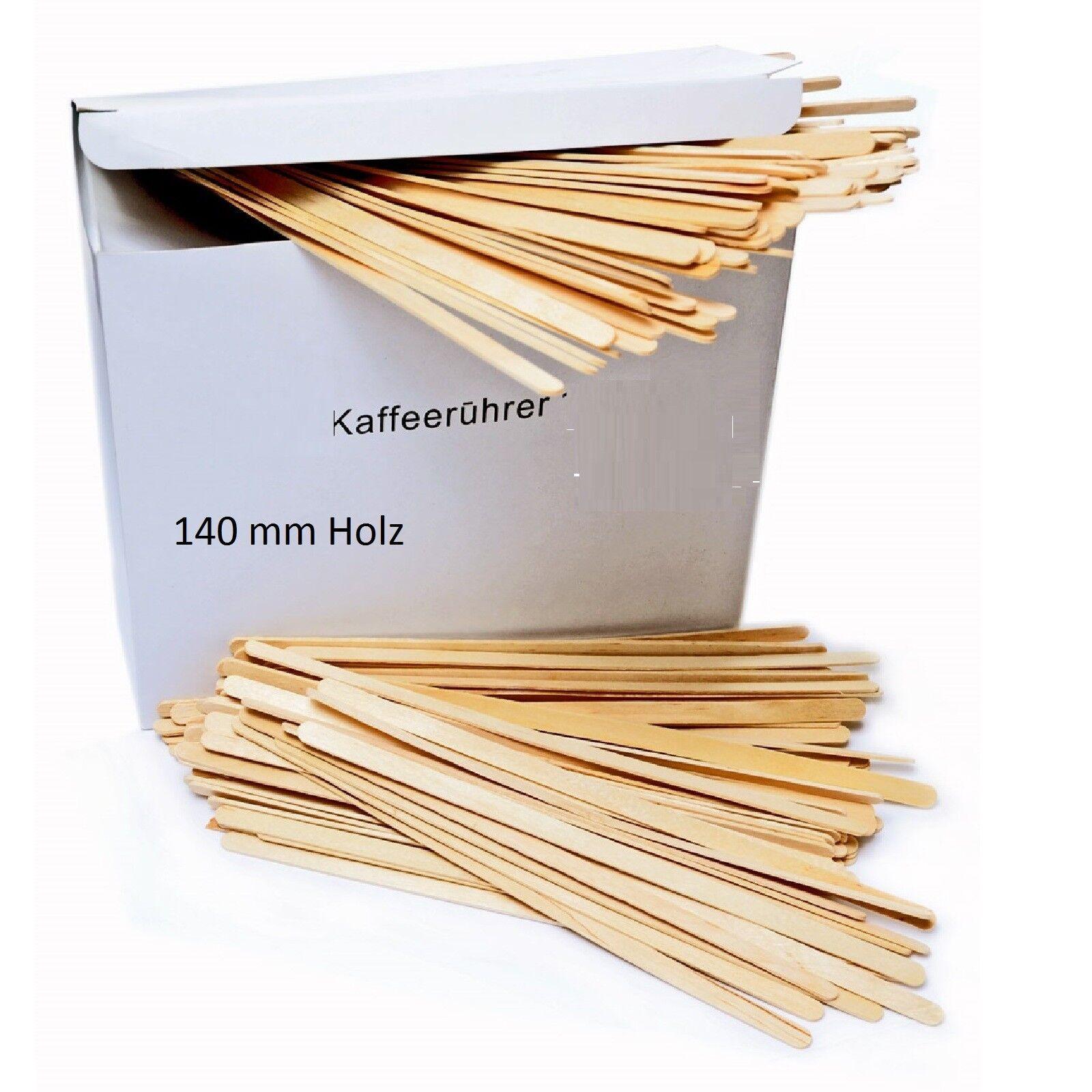 Rührstäbchen Holz 140 mm Kompostierbar 100 Stück Einweg Rührer Holz 14cm