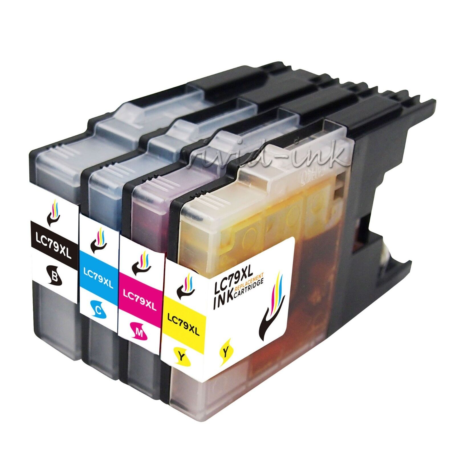 4 New Ink Cartridge Color Set For Brother LC71 LC75 MFC-