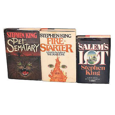 STEPHEN KING SIGNED BOOKS 1st EDITION PET SEMATARY FIRE STARTER SALEMS LOT
