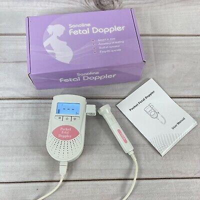 Baby Doppler Sonoline B Fetal Doppler In Pink With 3mhz Doppler Probe