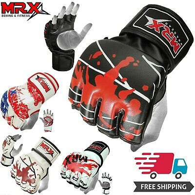 Boxing MMA Gloves Grappling Punching Bag Training Kickboxing Fight Sparring UFC (Kickboxing Bag Gloves)
