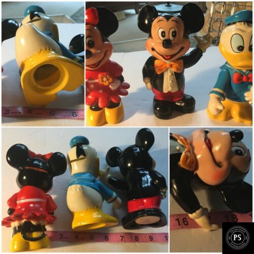 Vintage Disney Productions Lot 3 Banks Mickey & Minnie Mouse Donald  SKU 006-013