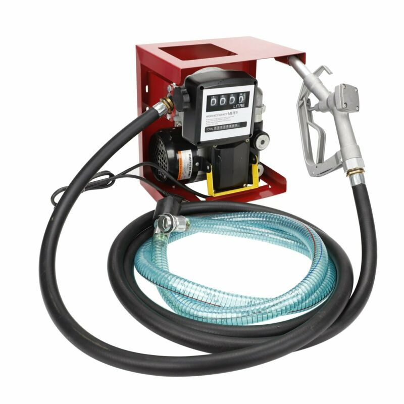 110V Electric Diesel Oil Transfer Pump Fuel Manual Nozzle 13