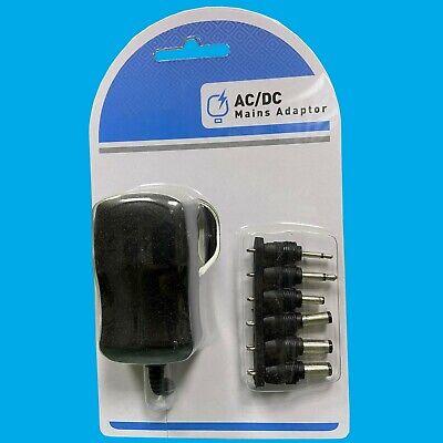 AC/Dc Red Eléctrica Pared Enchufe Adaptador Negro