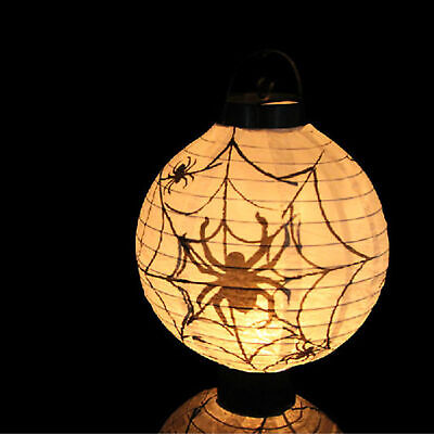 Diy Halloween Decorations Scary (1pc White New Halloween LED Paper Pumpkin Lantern DIY Holiday Party Decor)